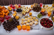 Dessert table to wow guests at a wedding.
