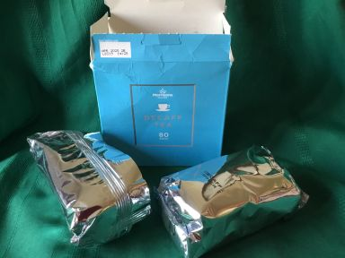 Open tea box